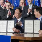 Public records: North Carolina eliminated early in the 7-state battle for Foxconn