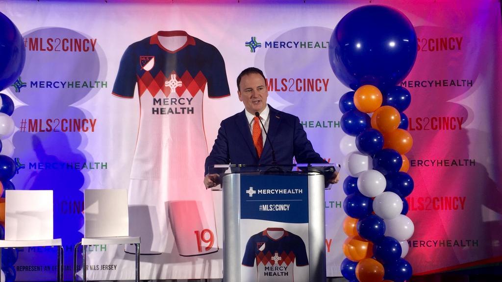 brand new 5fe81 2cd4c Mercy Health signs on as top FC Cincinnati sponsor ...
