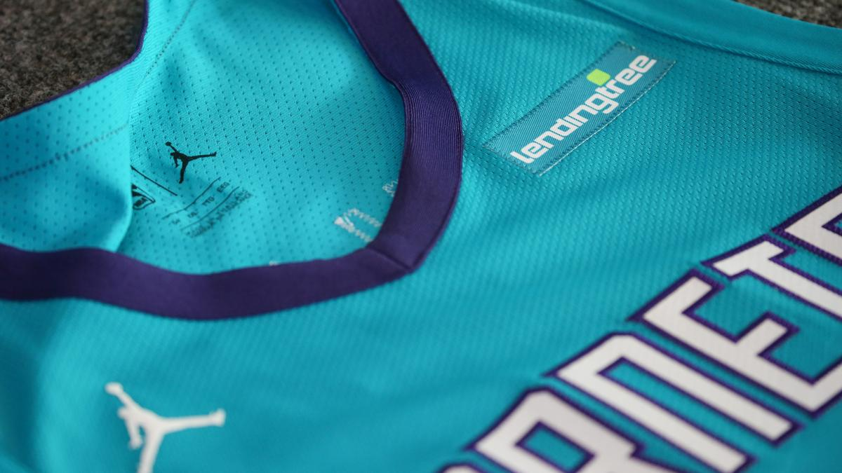 Charlotte Hornets Land Lendingtree For Jersey Ads Slideshow Charlotte Business Journal