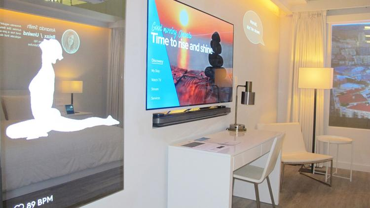 aaf154f141a Marriott International has teamed with Samsung and Legrand to develop an  Internet of Things hotel room