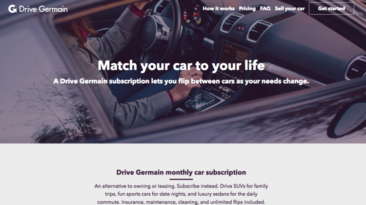 Germain Is Starting A Subscription Service That Lets Clients Swap Out Cars Based On Their Needs