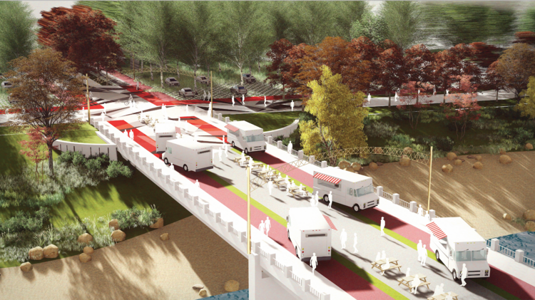 The future, the developers say, must emphasize alternate modes of transportation beyond cars.