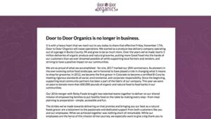 Colorado's Doors to Door Organics shuts down after 20 years