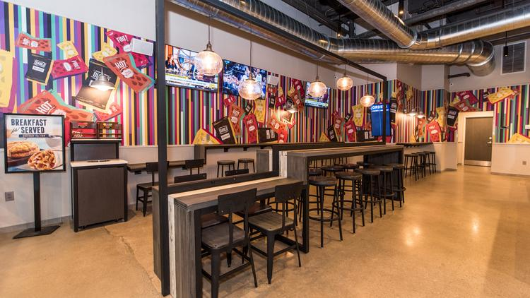 Taco Bell Cantina Has A More Urban Modern Design With Booths Equipped Outlets And