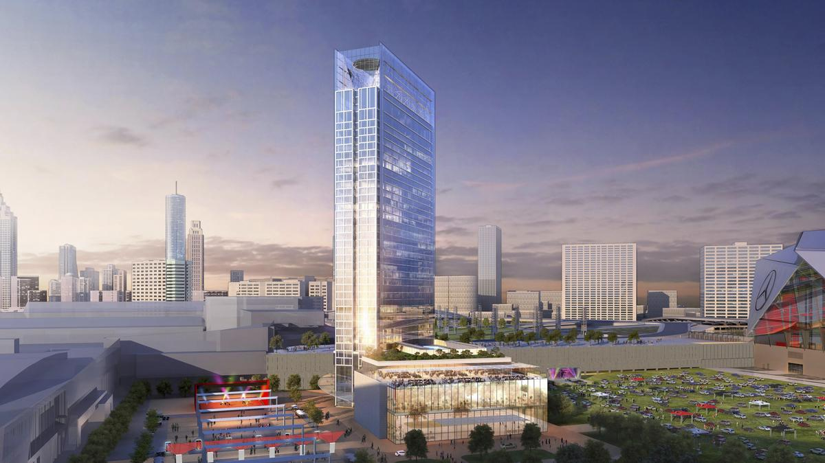 State Moves Forward With Plans For Hotel On Georgia Dome Site Video Atlanta Business Chronicle