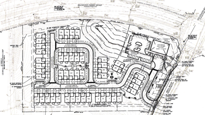 High-end, 47-townhome project proposed in Johns Creek