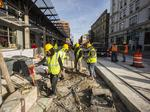 See the latest in construction of Milwaukee's streetcar