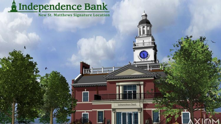 Owensboro-based Independence Bank of Kentucky wants to replicate Independence Hall, a Philadelphia landmark, with a major project in St. Matthews.