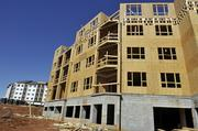 The ground floor of these apartments will be used as retail space.