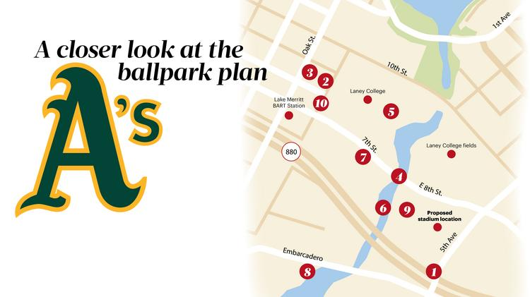 Mapped: A closer look at the Oakland Athletics' ballpark ... on