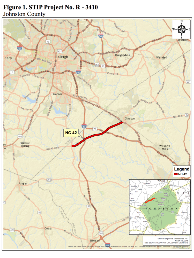 The $66M project NCDOT hopes eases rush hour out of Clayton ... Clayton Nc Map on
