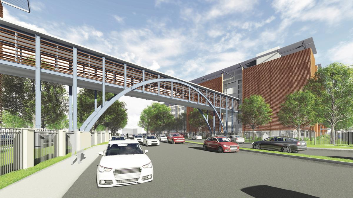 H E B S Downtown San Antonio Parking Deck And Sky Bridge