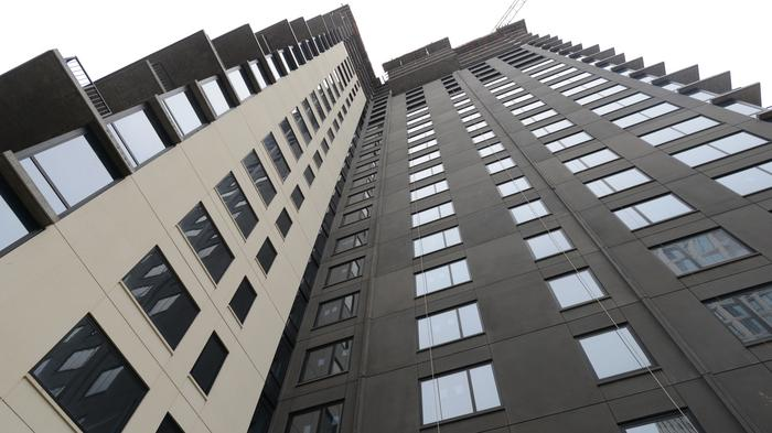 What happens after the apartment-building boom?
