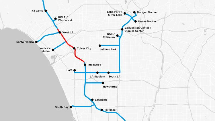 Hawthorne California Map.Elon Musk S Boring Co Buries Plans For L A Westside Tunnel L A Biz