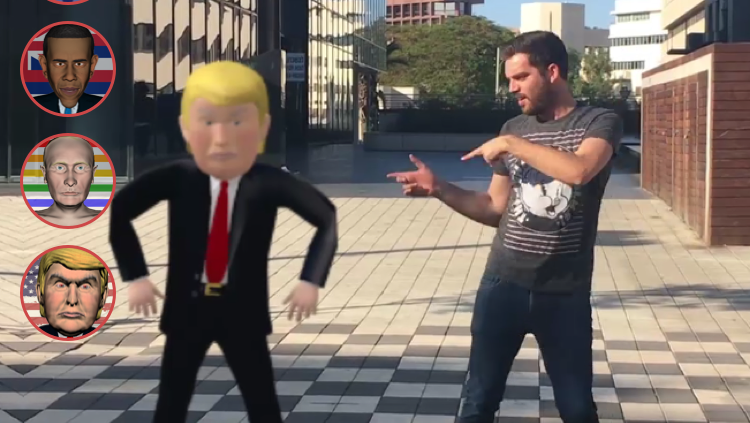 Los Angeles fuse it AR app lets you dance with Trump (or Hillary