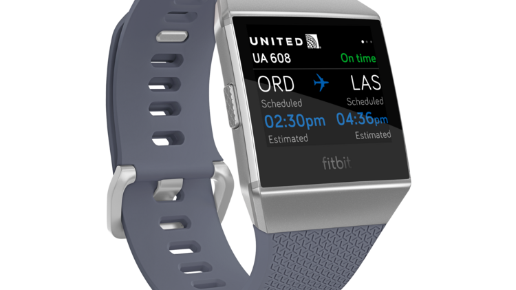 United Airlines Is The First Carrier To Introduce An App For Fitbit Ionic Smartwatch