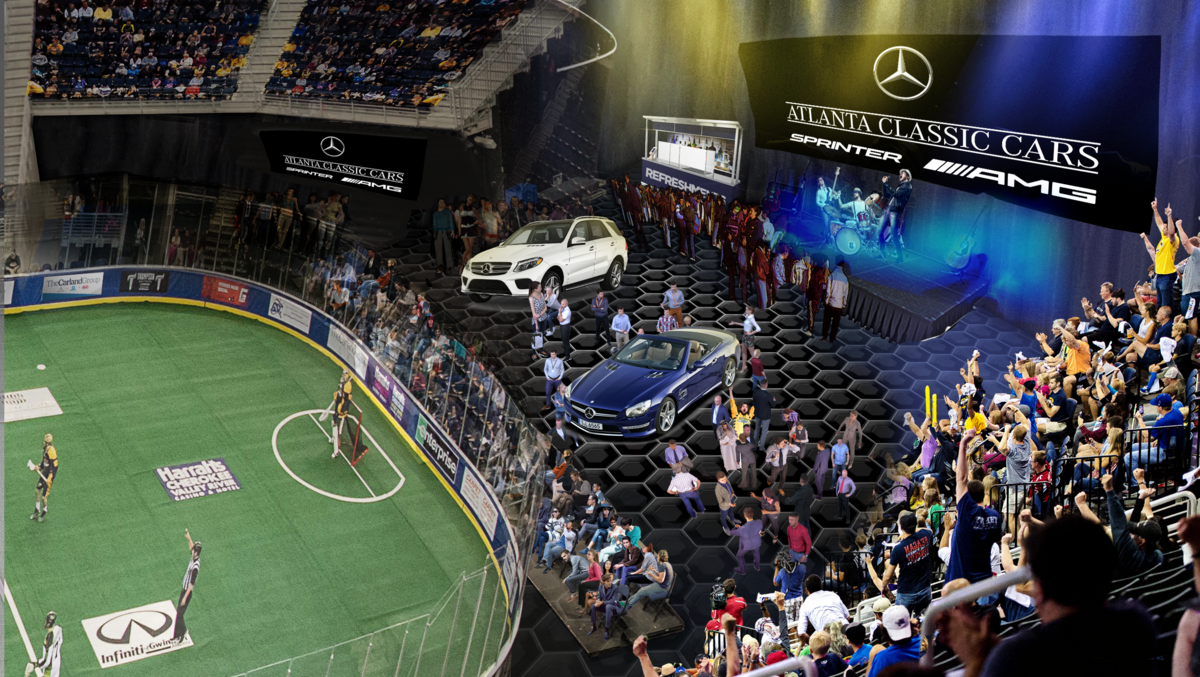 Georgia swarm scores deal with mercedes benz dealership for Atlanta mercedes benz dealers