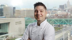 Andrew Longres, executive chef at The American Restaurant in Kansas City
