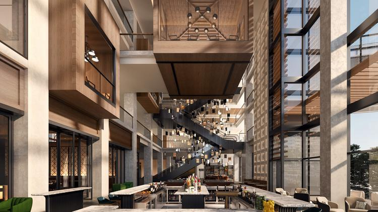 JW Marriott Tampa atrium