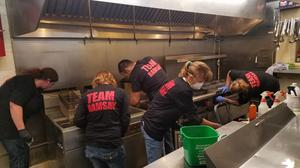 The team from Nor Cal Scrubbers cleans Sandra Dee's BBQ & Seafood.