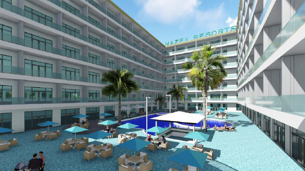 Mazex resort hotel proposed near hard rock stadium in miami gardens south florida business journal for Miami gardens building department
