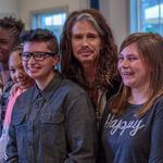Aerosmith frontman <strong>Steven</strong> Tyler opens girls shelter 'Janie's House'
