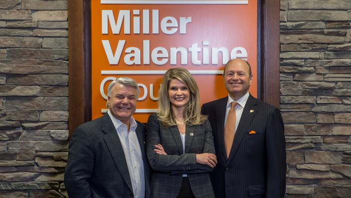 Elizabeth Mangan will become CEO Miller-Valentine Group. Pictured: Current CEO Bill Krul (left), Mangan and Senior Partner Mike Green.