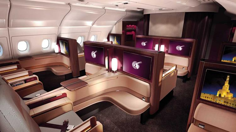 Qatar Airways First Cl Cabin On The Airbus 380 Seen Here Is Recipient