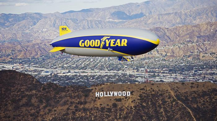 Goodyear inflates hangar to house new blimp