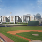New plan surfaces for ballpark apartment project