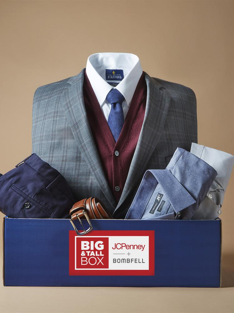 04b2740ad0d6 The J.C. Penney and Bombfell partnership offers big-and-tall apparel for  work and