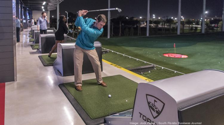 Topgolf to open its second south florida location in doral south marcus bach armas takes a turn at topgolf publicscrutiny Gallery