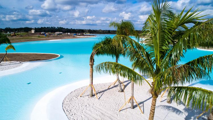 First 7 5-acre Crystal Lagoon is now full at Epperson in Wesley