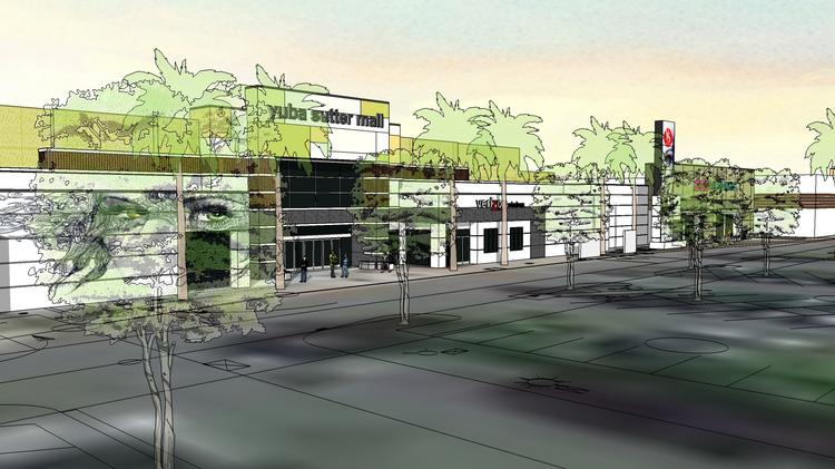 A rendering of the exterior changes planned for Yuba Sutter Mall.