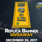 Georgia Swarm to raise 2017 NLL World Champion Banner at home opener with 2 Chainz