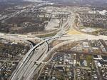 See progress on the Zoo Interchange reconstruction from 2,000 feet