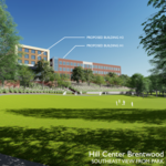 Upscale Marriott hotel, office tenant spur new construction at <strong>H.G</strong>. <strong>Hill</strong>'s big Brentwood project
