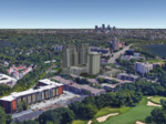 Calhoun Tower would get a pair of 22-story companions under proposal