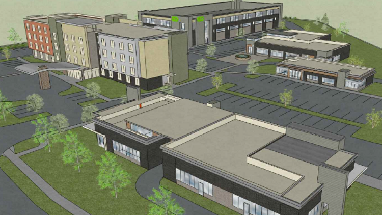 This Rendering Depicts Metcalf Crossing A Redevelopment Project That Would Replace Two Old Hotels At