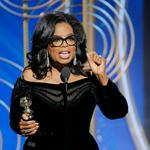 Oprah's stirring speech ignites speculation
