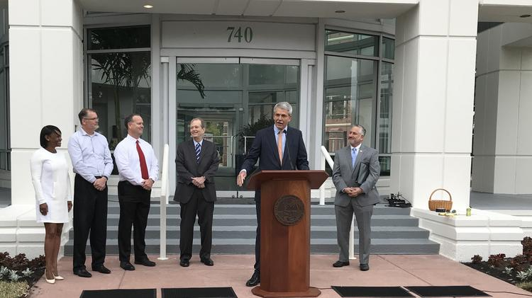 Raymond James Financial now has 1.2 million square feet in the Carillon Office Park, said Paul Reilly, chairman and CEO.