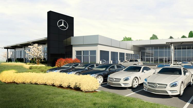 Exceptional A Closer Look Of The Rendering Of The Renovated Mercedes Benz Dealership,  Would Follow