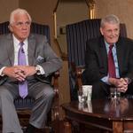 Hogan preaches bipartisanship, Senate President says Maryland victim of an 'economic war'