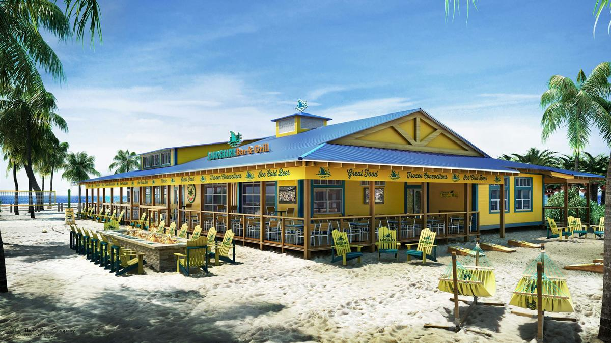 Jimmy Buffett Themed Landshark Bar Grill Cocina 214 To