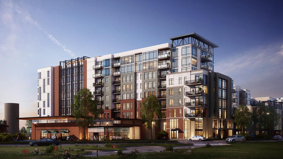 Ivanhoe Village luxury apartments start vertical ...