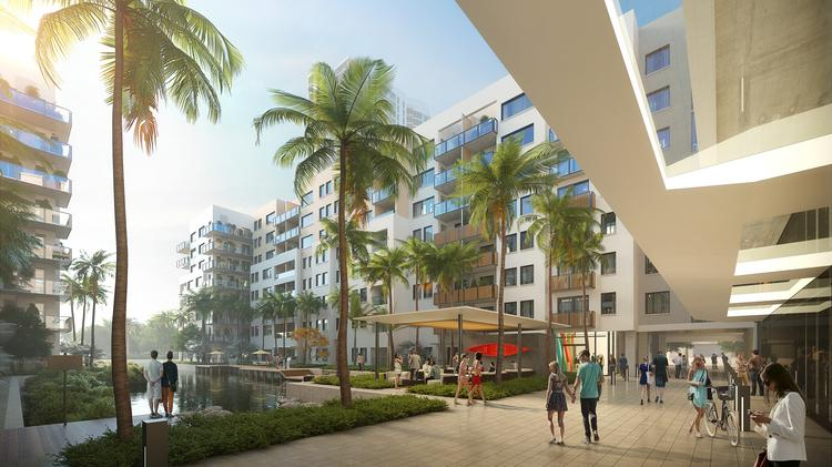 The ground floor of the Las Olas Walk project by ZOM USA.