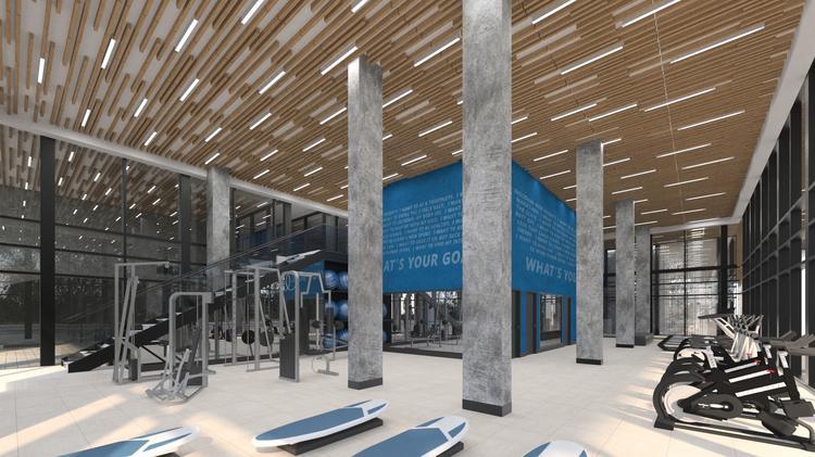 The gym at Las Olas Work by ZOM USA.