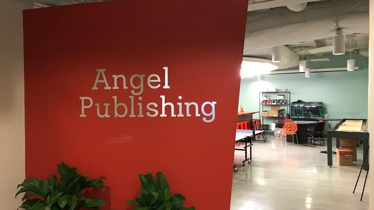 Angel Publishing S Logo Is Displayed Outside Of The Recreational Area