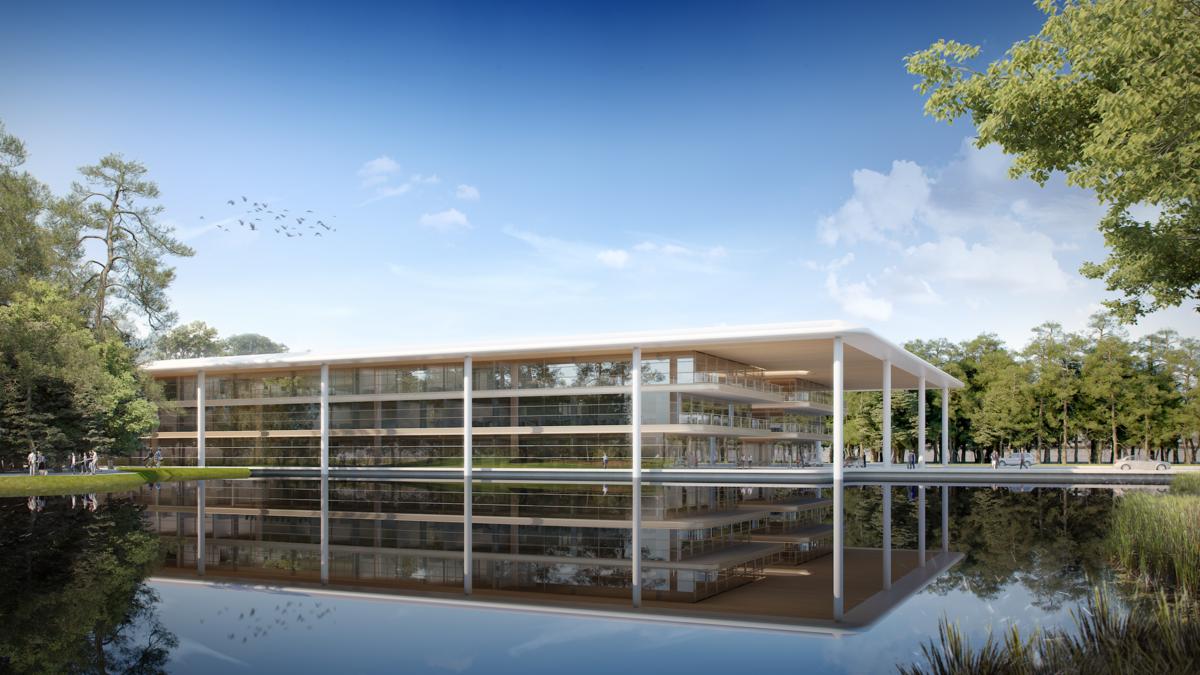 Rooftop Garden Architecture Render