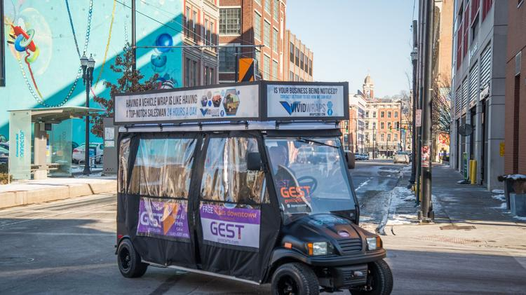 New company Gest offering free golf cart rides in downtown ... on stretch ez go cart, airport gate sign, airport electric transport cart, airport food cart, airport baggage claim, airport surveillance radar, flight attendant cart, airport shuttle in carts, senior citizen airport cart, airport ground equipment, airport window, airport fire stations, airport traffic pattern, porter airport cart, airport fire trucks, airport moving walkway,